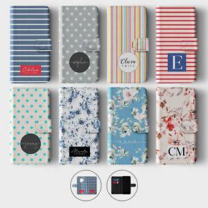Tirita Personalised Wallet Flip Case for Samsung S10 S9 S8 Stripe Lines Shabby