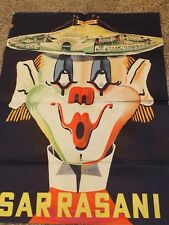 "Scarce CIRCUS SARRASANI German Clown One Sheet POSTER Circa 1970 33"" x 46"""