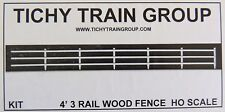 Tichy Trains***** 5 X RAIL WOOD FENCES in White ******HO Model trains