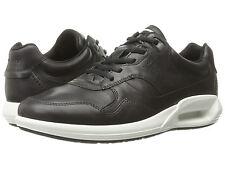 Ecco Men's CS16 Sz US 11 M / EU 45 Black Leather Low Sneakers Shoes $170