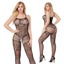 Sexy Open Crotch Bodystocking Babydoll Lingerie Erotic Women Fishnet Underwear