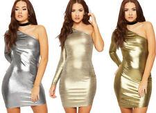 Asymmetrical Hem Polyester Solid Dresses for Women