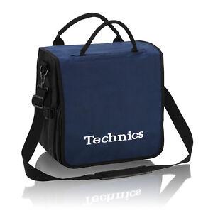 Technics DJ Record Bag Ruck Sack 50 vinyl LP Navy White Logo SL 1200 SL 1210