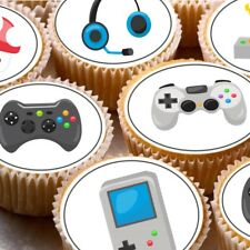 24 Edible cupcake fairy cake toppers decorations gaming gamer xbox PS DS games