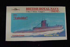 HP Models  Brit. U-Boot der U-Klasse 1.Gruppe HMS Upholder -1941/42- 1:700 Resin