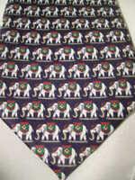 Rene Chagal Silk White Elephant tie