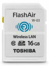 Toshiba SDHC 16GB 16G FlashAir Wi Fi Class 10 C10 Wireless Flash Memory Card New