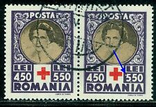 1945 Red Cross,Queen Mother,Cruz Roja,Croix Rouge,Romania,Mi.827,VFU,ERROR(1)
