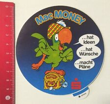Aufkleber/Sticker: Sparkasse - Mac Money Papagei (02061625)