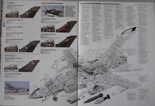 Warplane magazine Issue 1 Panavia Tornado IDS Cutaway drawing & Poster