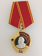 SUPERIOR QUALITY Vintage Soviet Russian Order of Lenin with ribbon