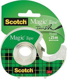 Scotch Magic Tape Transparent Dispensered Roll 19mm x 25m