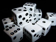 100 Casino Certified White Dice, 16mm Official Size
