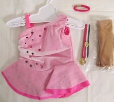 """American Girl_18"""" Doll_Ice Skating Dress Costume 10_Tights, Gold Medal_New_Sale"""