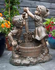 Gartenbrunnen Springbrunnen Ubbink AcquaArte Regina Bronzeoptik