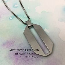 """Authentic Tiffany & Co. Paloma Picasso Zellige Steel Necklace 19"""""""