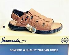 Saramanda Shoes mens leather adjustable walking sandals Saramanda Camper