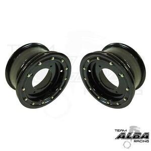 YFZ 450 YFZ 450R  Front Wheels  Beadlock  10x5  4+1  4/156  Alba Racing  Blk/blk