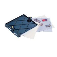 SAFE Briefmarken-Trockenpresse mit 20 Löschblättern und 5 Folienblättern.