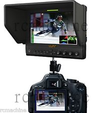 Lilliput 7 663/O/P2 v2 IPS Peaking Focus HDMI In Out Monitor+shoe stand cano 5d3