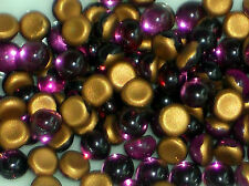 Vintage Cabochons Rhinestones Amethyst 4mm Tiny Rounded Mini Small Foil #1096m