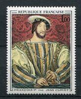 FRANCE 1967 timbre 1518, Tableau J. CLOUET, FRANCOIS I°, ART, neuf**