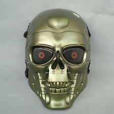 Miao color Paintball Gun Full Face Protection T800 Terminator Skull Mask Prop