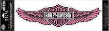 HARLEY DAVIDSON Pink Straight Wing B&S 13 inch HARLEY DECAL