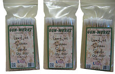 """Gun-Werkz Low Lint Cotton Cleaning Swabs with 6"""" wooden handle--Three-Pack"""