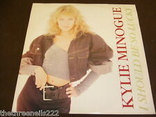 """VINYL 12"""" SINGLE - KYLIE MINOGUE - I SHOULD BE SO LUCKY - PWL T8"""
