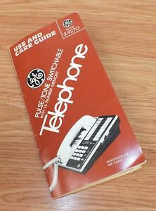 Replacement Use & Car Guide For General Electric (2-9270B) Corded Phone Base