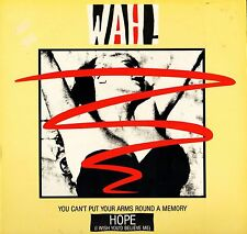 """WAH you can't put your arms round a memory X9880T uk eternal 1983 12"""" PS EX/EX"""