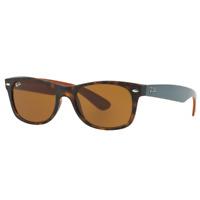 RayBan New Wayfarer Sunglasses - Tortoise Brown Classic B-15 - 2132 710 55-18