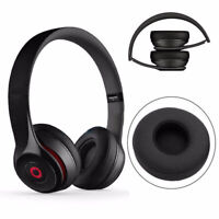 Replacement Earpads Ear Cushions for Beats Solo 2 Wireless/Wired Headphone Black