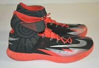 new product 3fe2d 23f8c NIKE Zoom HYPER-REV 630913-001 Black Red Basketball Sneakers Men s SIZE 15
