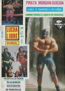 Lucha Libre Mundial #1383 Mexican Wrestling 1990 (KONNAN) Good Condition Spanish