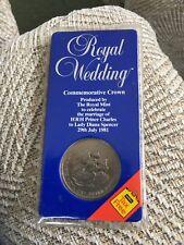 ROYAL WEDDING COMMEMORATIVE CROWN - CHARLES & DIANA 29 JULY 1981