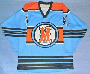 Rare Hardnosed Kansas City Missouri Mavericks Hockey Jersey Give Em Hell Size M