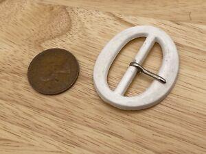Vintage Plastic White Belt Buckle