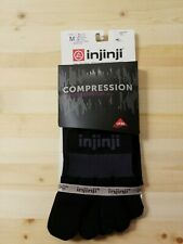New Injinji Ex-Celerator 2.0 Compression Knee High Toe Socks Men's Medium Black
