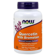 Quercetin & Bromelain (400mg + 100mg) x 120 Veg Capsules - NOW Foods Allergies