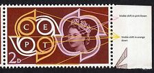 QEII 1961 CEPT European Postal Telecoms SG626 Progressive Shift of Pink & Orange