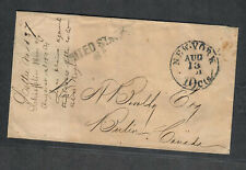 Transatlantic Ship Stampless Cover 1861 NY To Berlin, Ont. Canada, Embossed