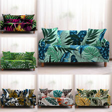1 2 3 4 Seaters Sofa Covers Plant Leaves Stretch Furniture Protector Polyester