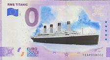 BILLET 0  EURO DRMS TITANIC COULEUR  IRLANDE  2020 NUMERO DIVERS