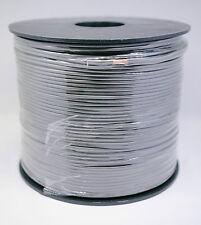 Bobineau 100M Câble Haut Parleur Hifi 2x0,5mm²  100% Cuivre Ligné noir (OFC)