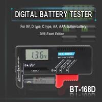 BT168D Smart LCD Digital Battery Tester Electronic Battery Power Measure Checker