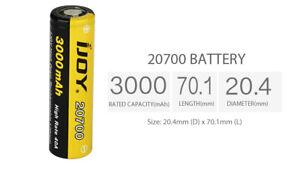 "2x 100% Genuine Japan Cell ""Joy"" 20700 3.7 V 3Ah Li-Ni Rechargeable Battery Pair"