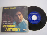 EP 45 T VINYL 4 TITRES ,  RICHARD ANTHONY , ARANJUEZ MON AMOUR . G / VG .
