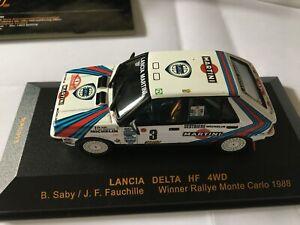 LANCIA DELTA INTEGRALE WINNER MONTE CARLO1988 B.SABY/J.FAUCHILLE IXO RAC015 1/43
